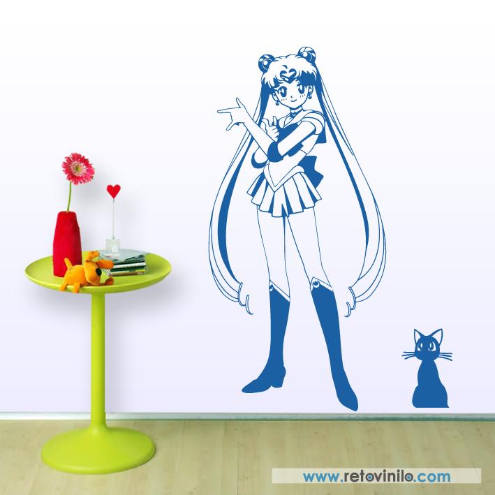 56x115 cm  #retovinilo #vinilosdecorativos #vinilos #manga #sailormoon