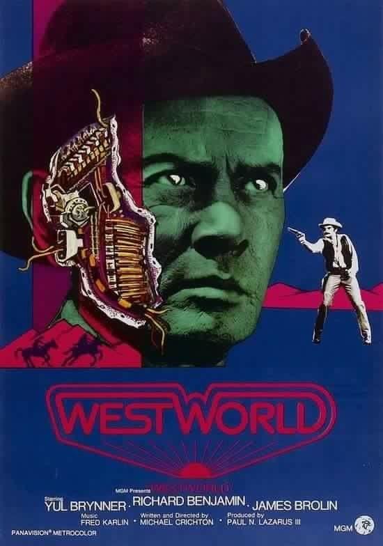 Westworld Yul Brynner cult movie poster print
