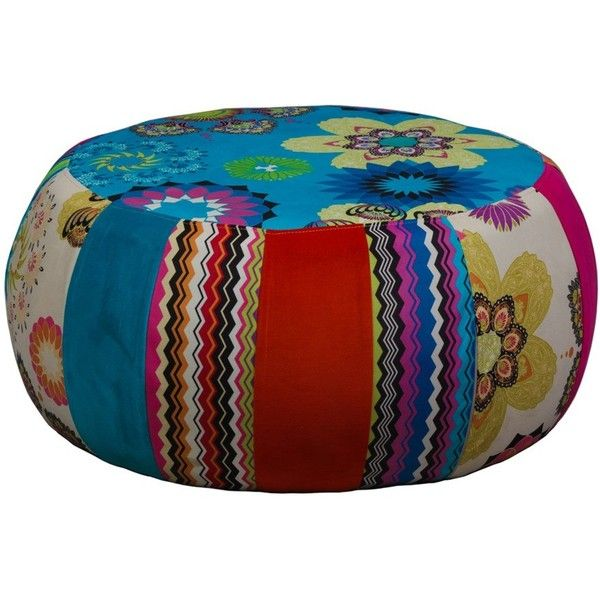 Large Patchwork Footstool 2 725 Zar Liked On Polyvore