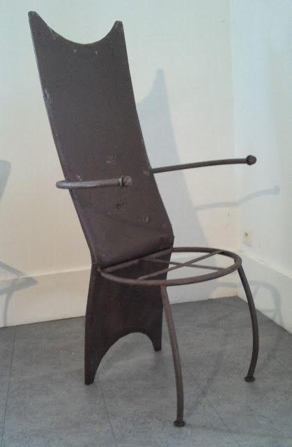 Le vide grenier de didou la brocante ancien fauteuil fer forg design xxeme de jardin salon for Le fer forge dans la maison