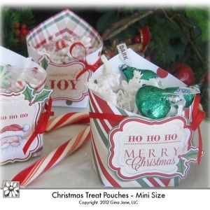Christmas printable treats and goodies pouches pockets mini christmas printable treats and goodies pouches pockets mini gift idea do it yourself christmas crafts treats candy goodies holder solutioingenieria Choice Image