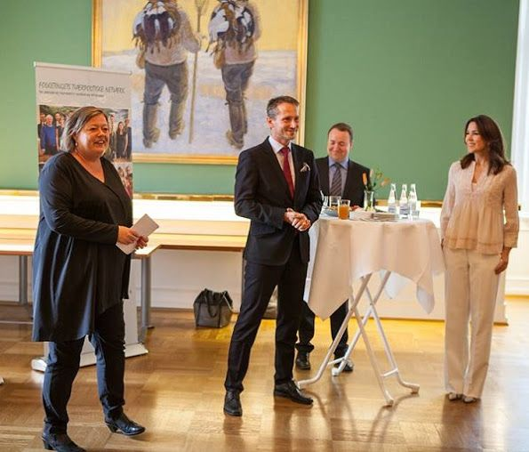 Crown Princess Mary attended a reception at Christiansborg Palace