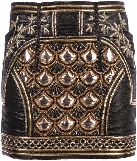 Embellished Mini Skirt - Lyst