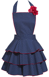 carolyn s kitchen navy petite dot party apron very cute cute aprons aprons vintage diy apron on kaboodle kitchen navy id=86563