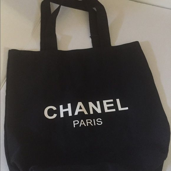 6dc4f3acc4cb Chanel VIP gift Authentic Chanel Canvase tote.. VIP beauty counter  gift...both side say Chanel Paris.. 14x14 NO TRADES PRICE IS FIRM Bags Totes
