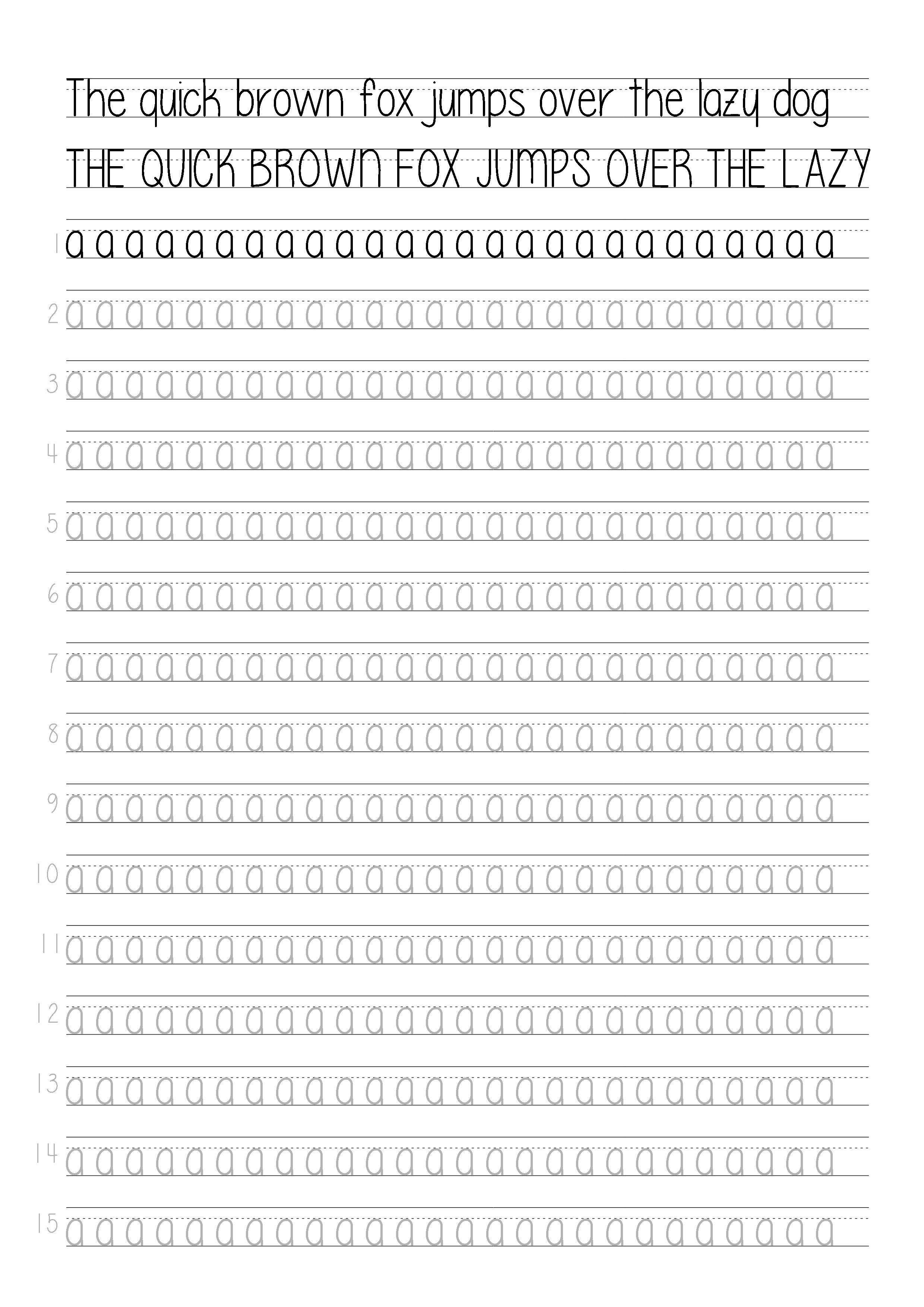 Guidelines Lowercase Print Handwriting Nice Handwriting Pretty Handwriting [ 3508 x 2480 Pixel ]