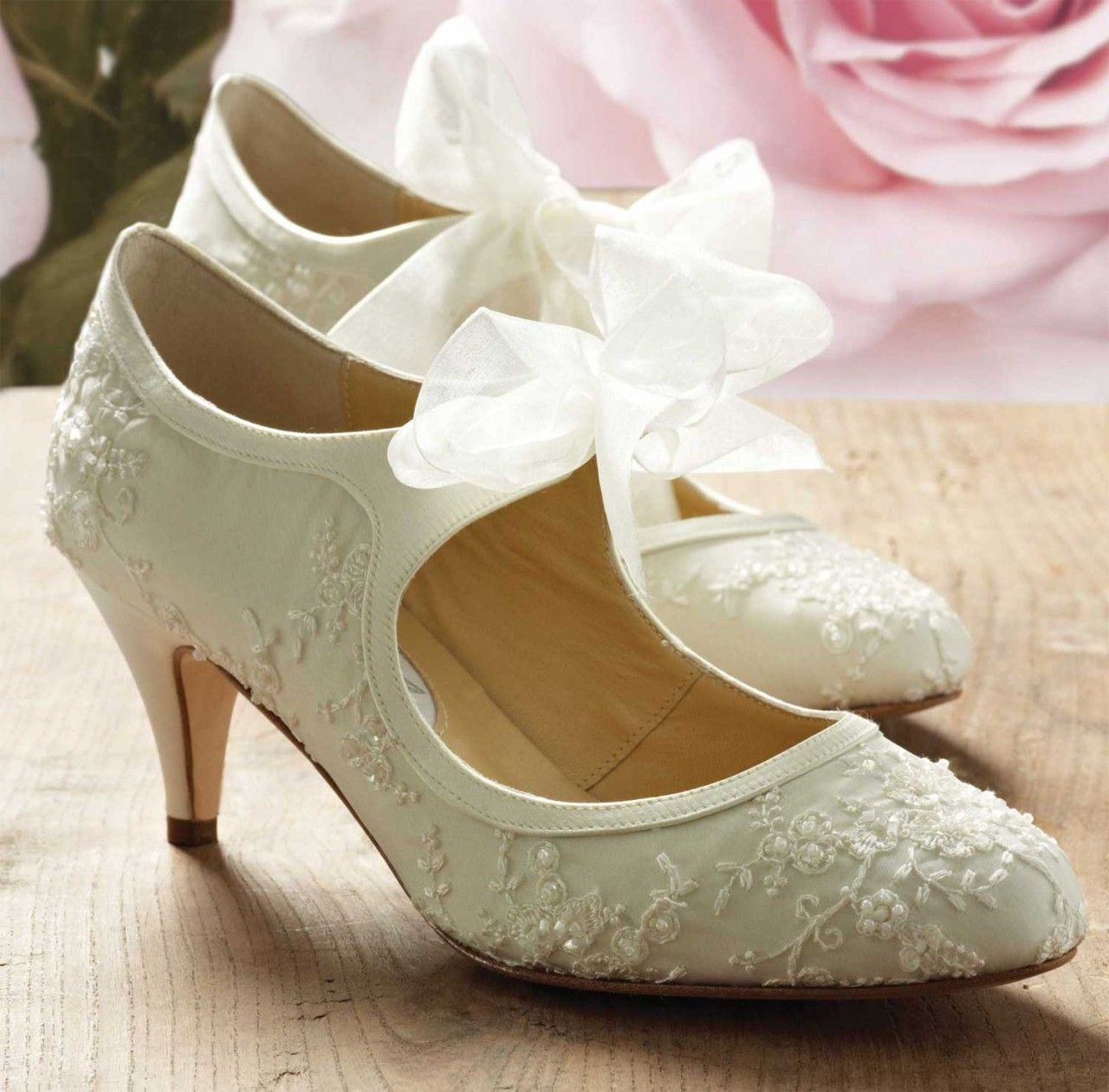 Diane Hall Wedding Shoes Miss Alice Vintage Ivory Silk Bridal Might Be A Bit Too Much That Lace