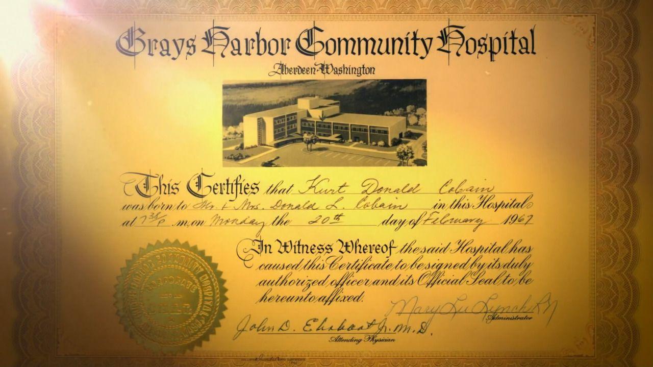 Kurt CobainS Birth Certificate Kurt Cobain Birth