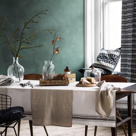 farbe grau grn braun wohnen und einrichten mit naturfarben wandgestaltung mit dunkelgrn - Wohnzimmer Farben Grau Grun