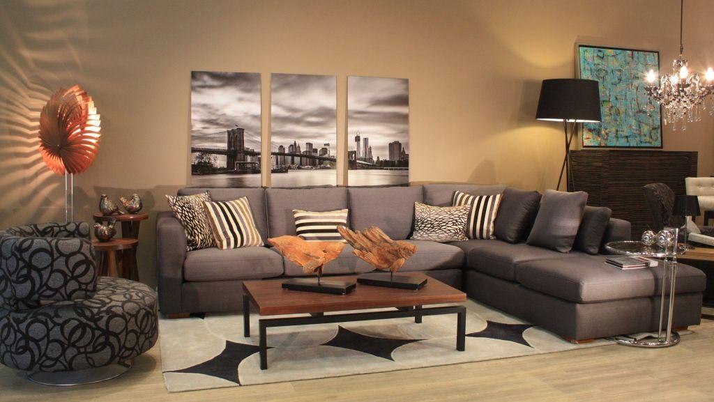 Sala escuadra en gris casa pinterest living rooms for Decoracion casa gris
