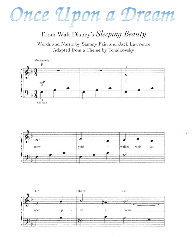 Once Upon A Dream Piano Sheet Music Heartpulsar