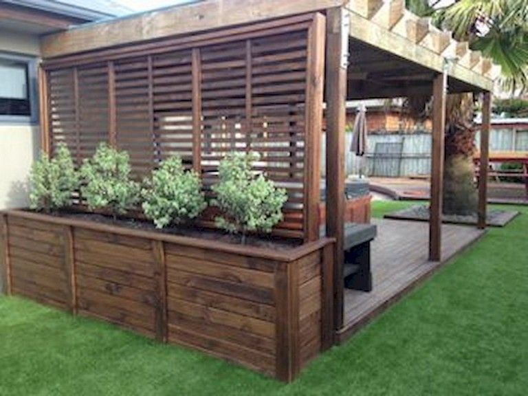 64+ Amazing Privacy Fence for Patio & Backyard Landscaping Ideas