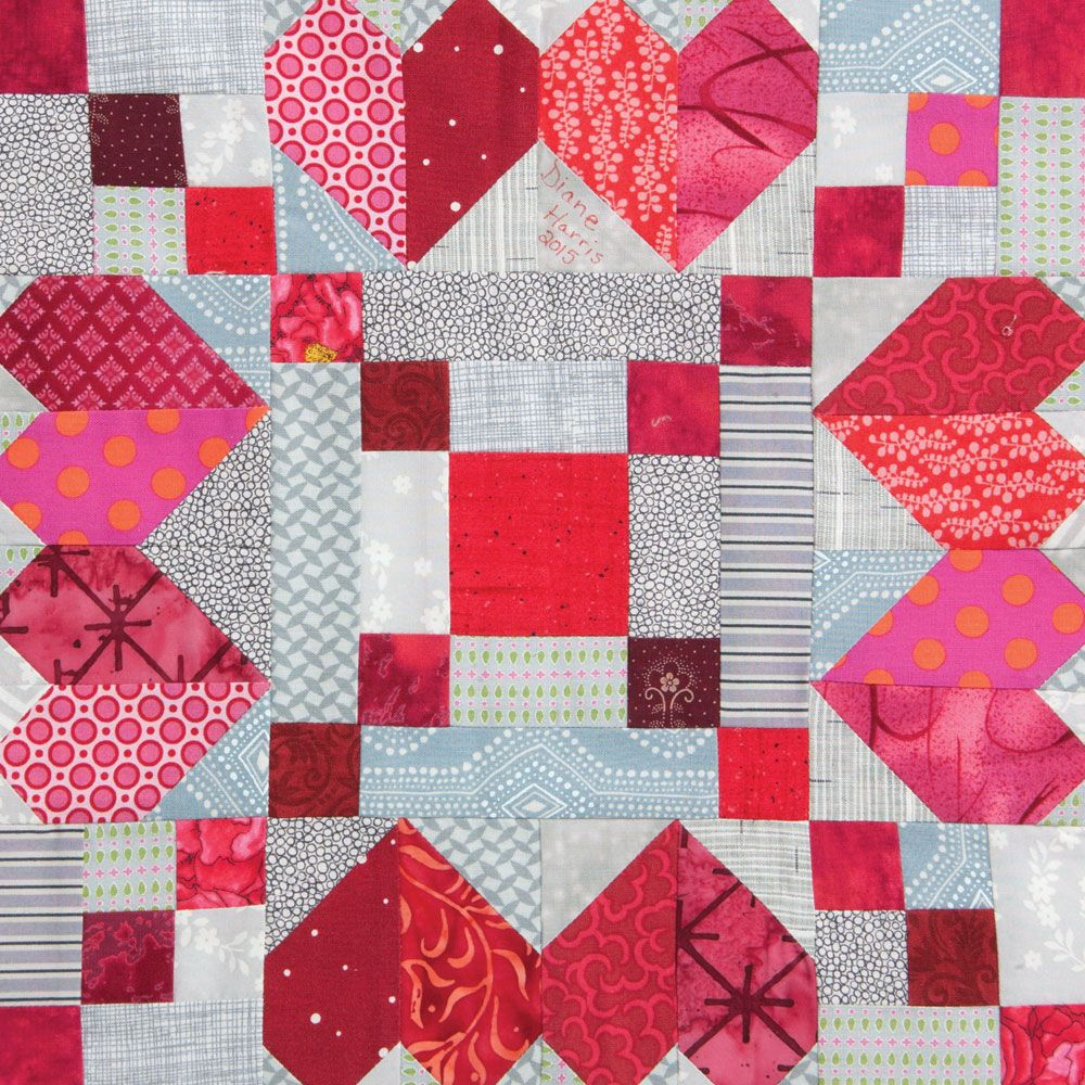 Love Chain quilt block designed by Diane Harris for