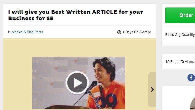 Hiring article writers