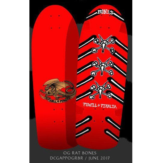 Details about  /Powell Peralta Skateboard Deck OG Vato Rat Bones Pink Old School Re-Issue.