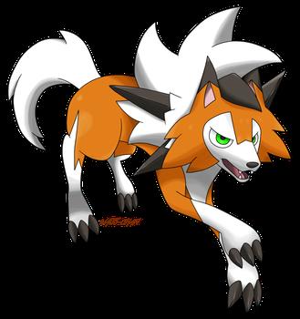 Lycanroc Dusk Form By Waito Chan Pokemon Rockruff Pokemon Pokemon Memes