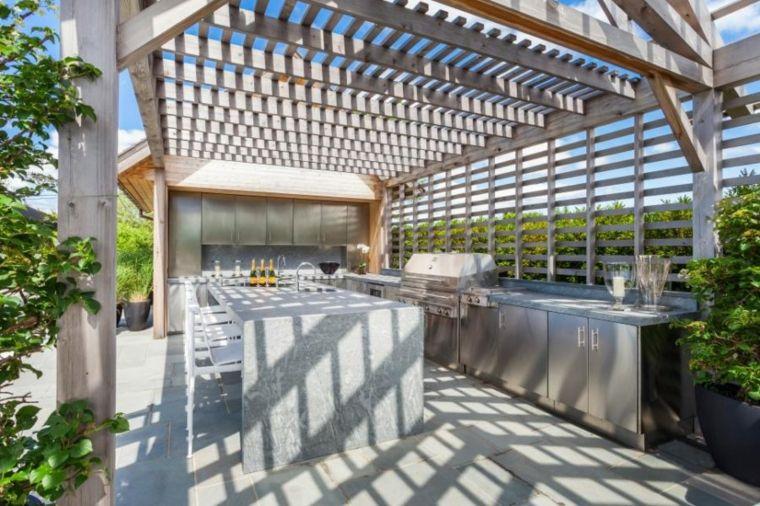 Cocinas de exterior modernas y originales. Un diseño moderno de cocina en el exterior puede permitir vivir una experiencia más cercana al interior de nuestr