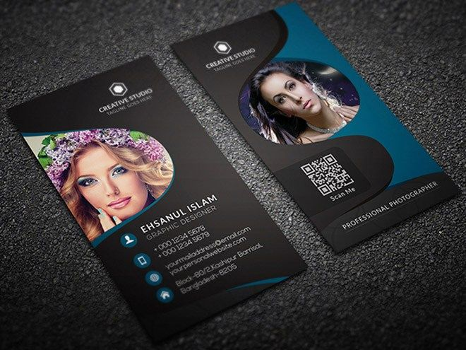 Free vertical photography business card template business cards free vertical photography business card template fbccfo Choice Image