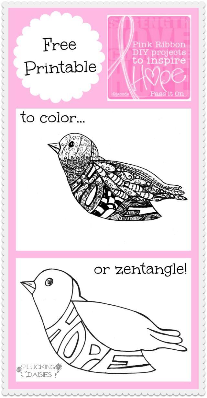BCA Hope Bird Printable | Pluckingdaisies.com | vogels | Pinterest ...