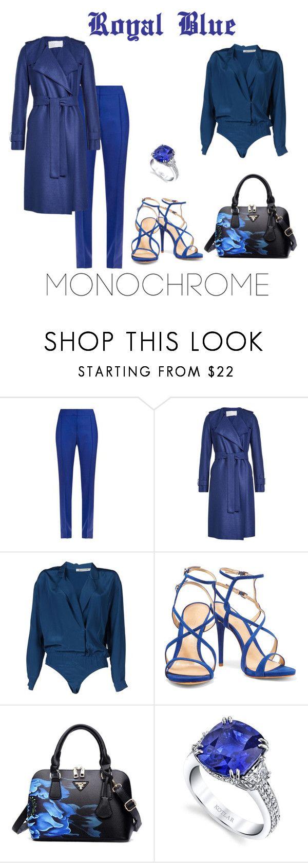 """Royal Blue Monochrome"" by zsugabubus ❤ liked on Polyvore featuring STELLA McCARTNEY, Harris Wharf London, MASSCOB, Schutz and Harry Kotlar"