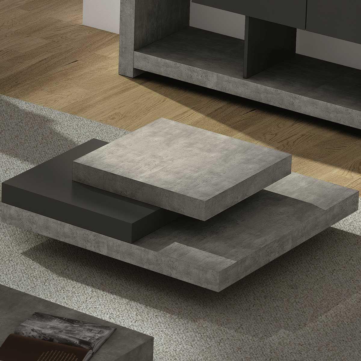 Les 25 meilleures id es de la cat gorie table basse effet for Table a manger effet beton