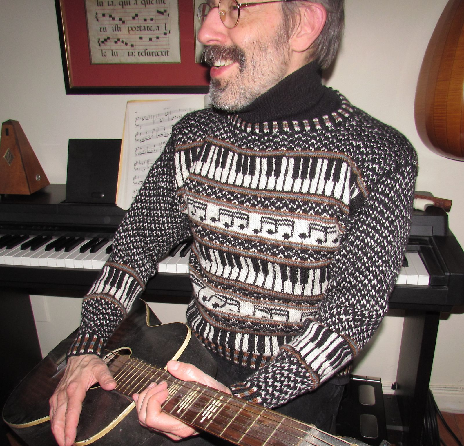 Musica: The Sweater pattern by Deborah Tomasello