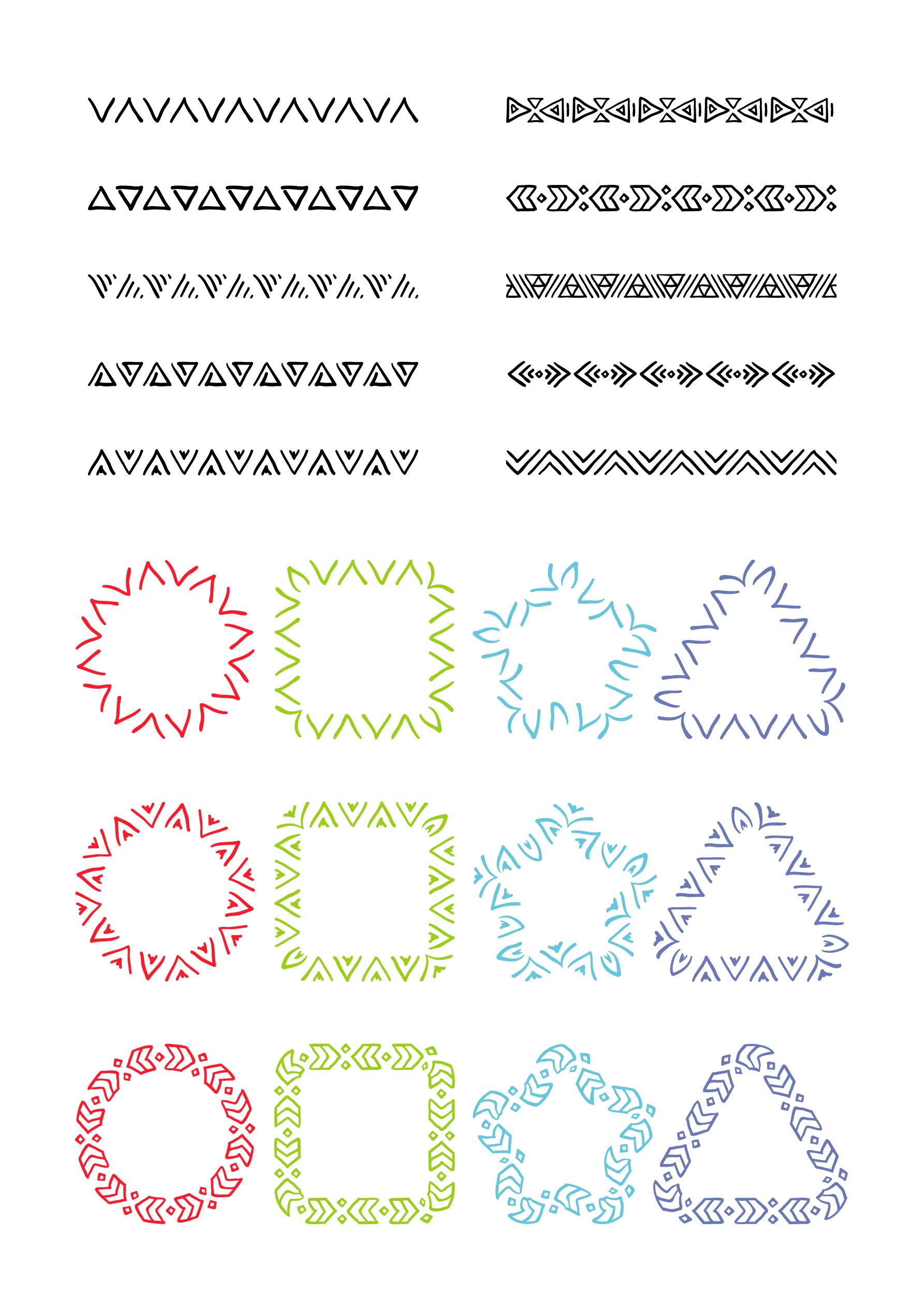 50 brushes fur adobe illustrator schmuckvolle ornamente einfach zeichnen vektorgrafik erstellen sonne tasse vektor