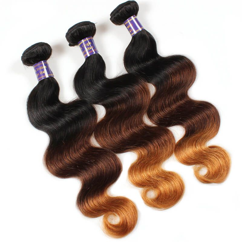 Mink Ombre Hair Colored Hair Extensions Malaysian Body Wave Remy
