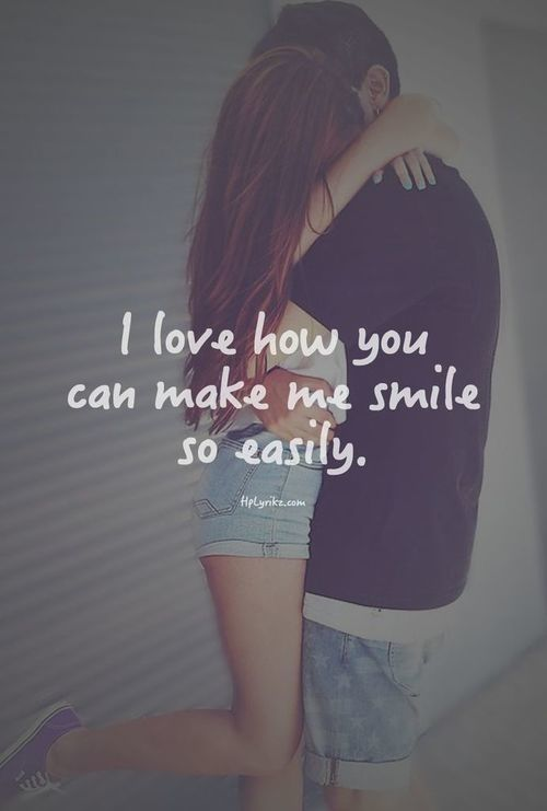 I Love How You Can Make Me Smile So Easily love love quotes quotes - build me a resume