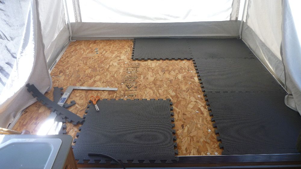 Underbed Padding Camping In The Tent Trailer Pinterest
