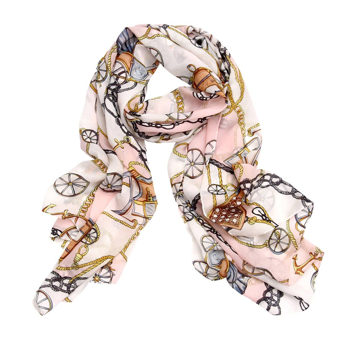 Women Girls Dancing Dress Decor Vintage Wrap Fashion Shawls Neck Hair Scarf