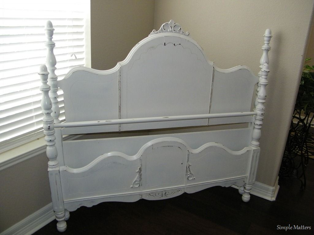 distressed antique furniture. White Distressed Antique Bed Furniture S