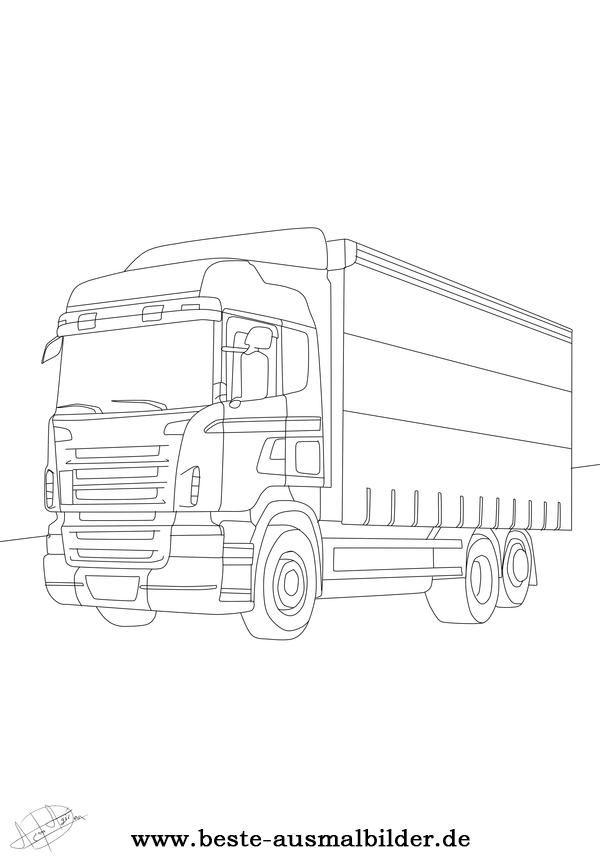 ausmalbild lkw rund ums kind pinterest truck. Black Bedroom Furniture Sets. Home Design Ideas