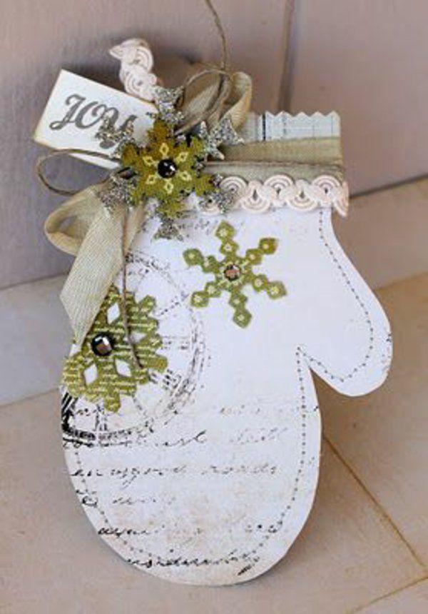 dekorativ weihnachtskarten basteln vorlagen handschuhe. Black Bedroom Furniture Sets. Home Design Ideas