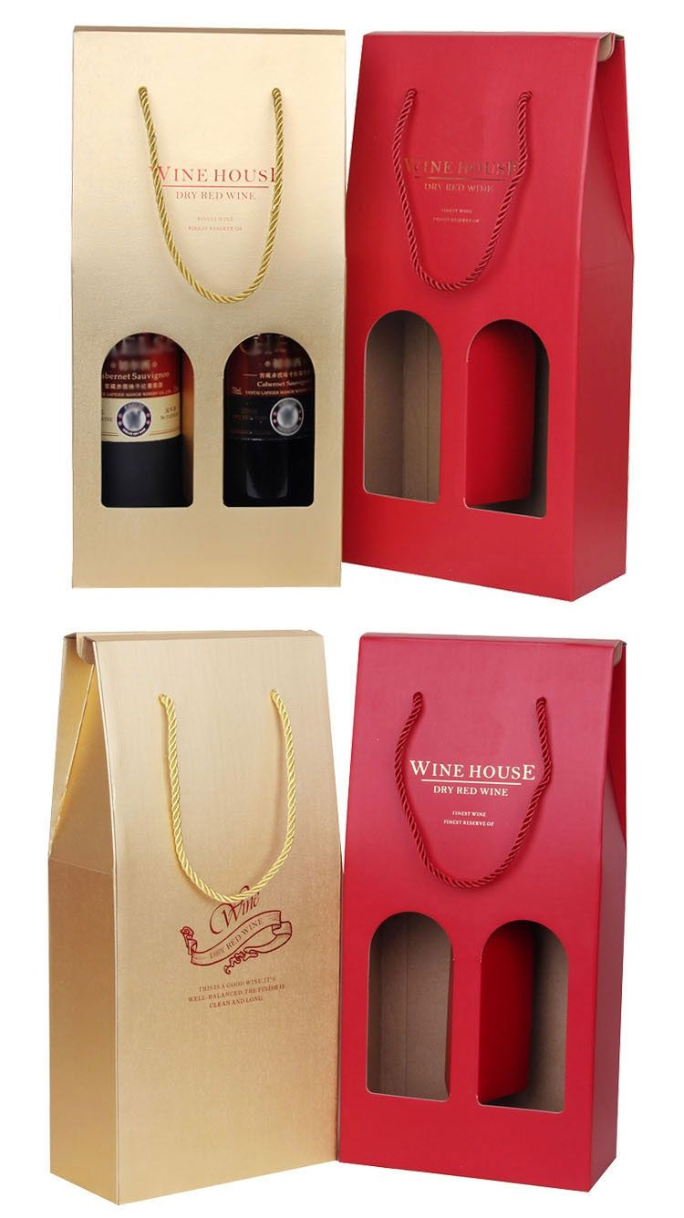 Paper Wine Box With Handle Wine Boxes For Sale Fbj001 Wine Packaging Design Bottle Design Packaging Wine Bottle Packaging