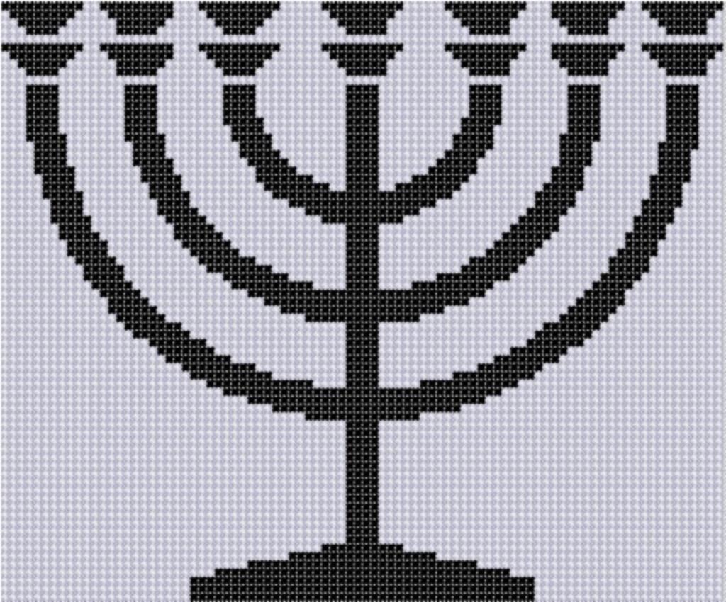 Menorah Cross Stitch Pattern | punto de cruz | Pinterest | Bordado ...