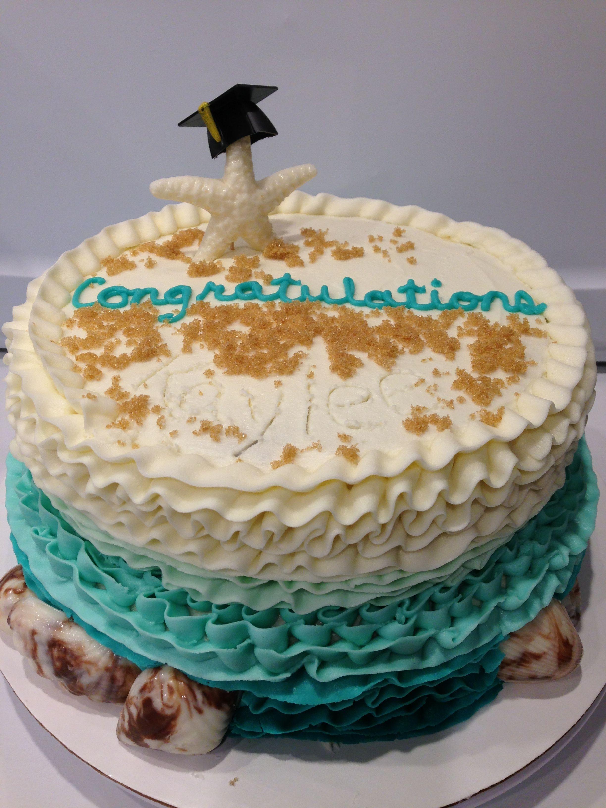 Beach Themed Graduation Cake Beach Graduation Cake Graduation