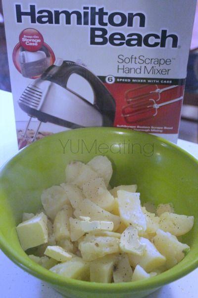 Hamilton Beach Softscrape Hand Mixer {Giveaway} : Parsley & Chives Whipped Potatoes