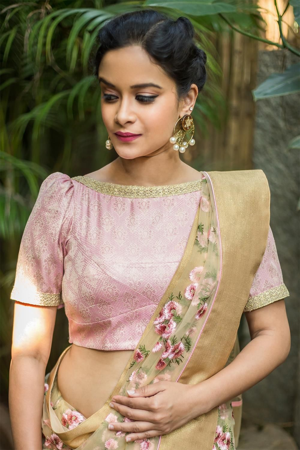 Super Chic OffShoulder Blouse Designs For Sarees  Indian