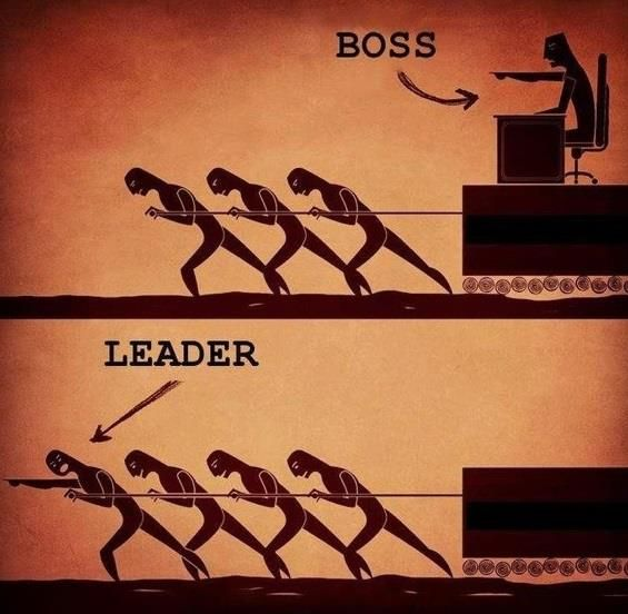 A Good Boss Is A Leader Not A Dictator True At Work And At Home Boss And Leader Boss Vs Leader Leadership Quotes