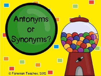 Antonyms or Synonyms?   Upper Elementary Literacy   Pinterest   Ccss ...