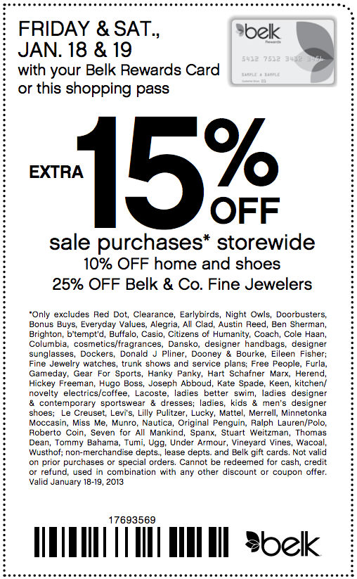 photograph regarding Belk Printable Coupons called Belk: 15% off Printable Coupon Discount codes Coupon codes