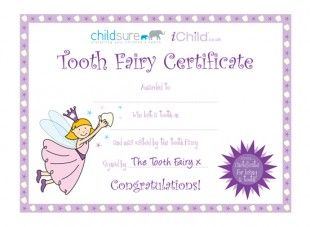 Played tooth fairy tonight of my favorite things in the world tooth fairy certificate pink fairy spiritdancerdesigns Images