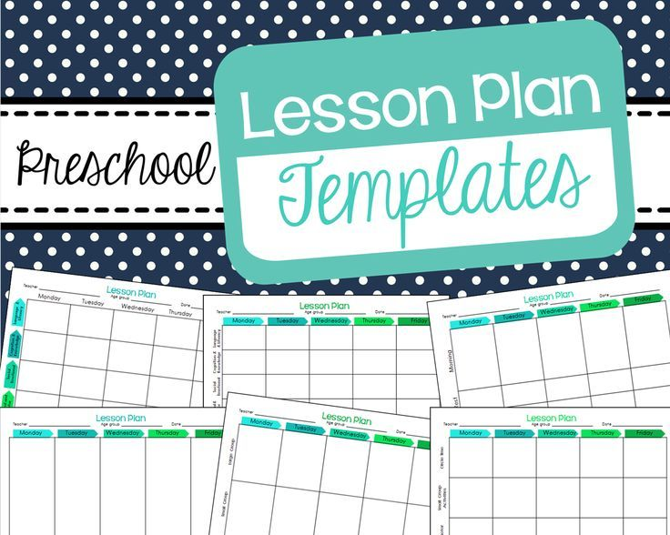 Free Preschool Lesson Plan Templates Lets Learn Lesson Planners