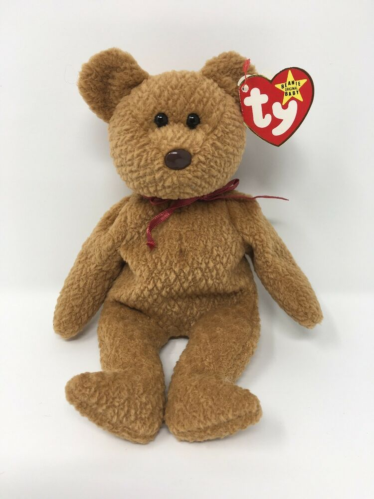 the Bear MWMT Ty Beanie Baby Curly