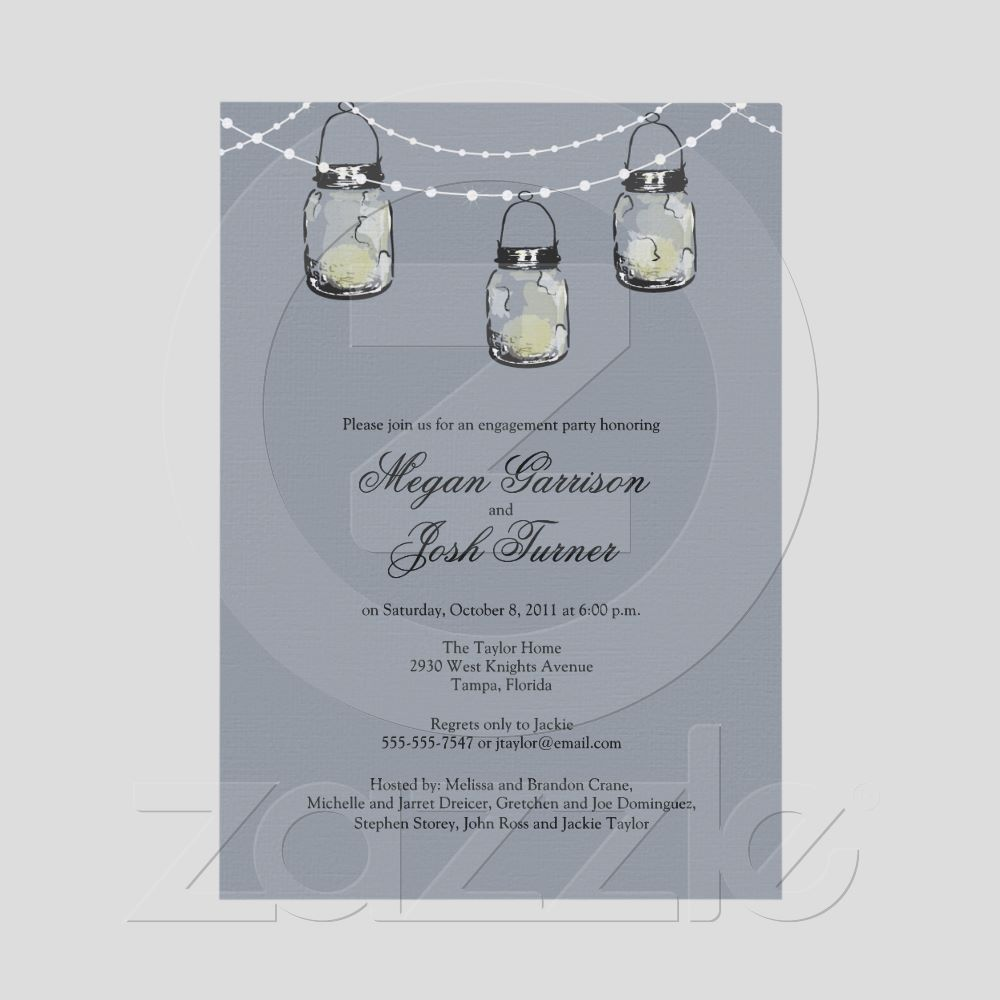 3 Hanging Mason Jars - Engagement Party Card   Jars, Chang\'e 3 and ...
