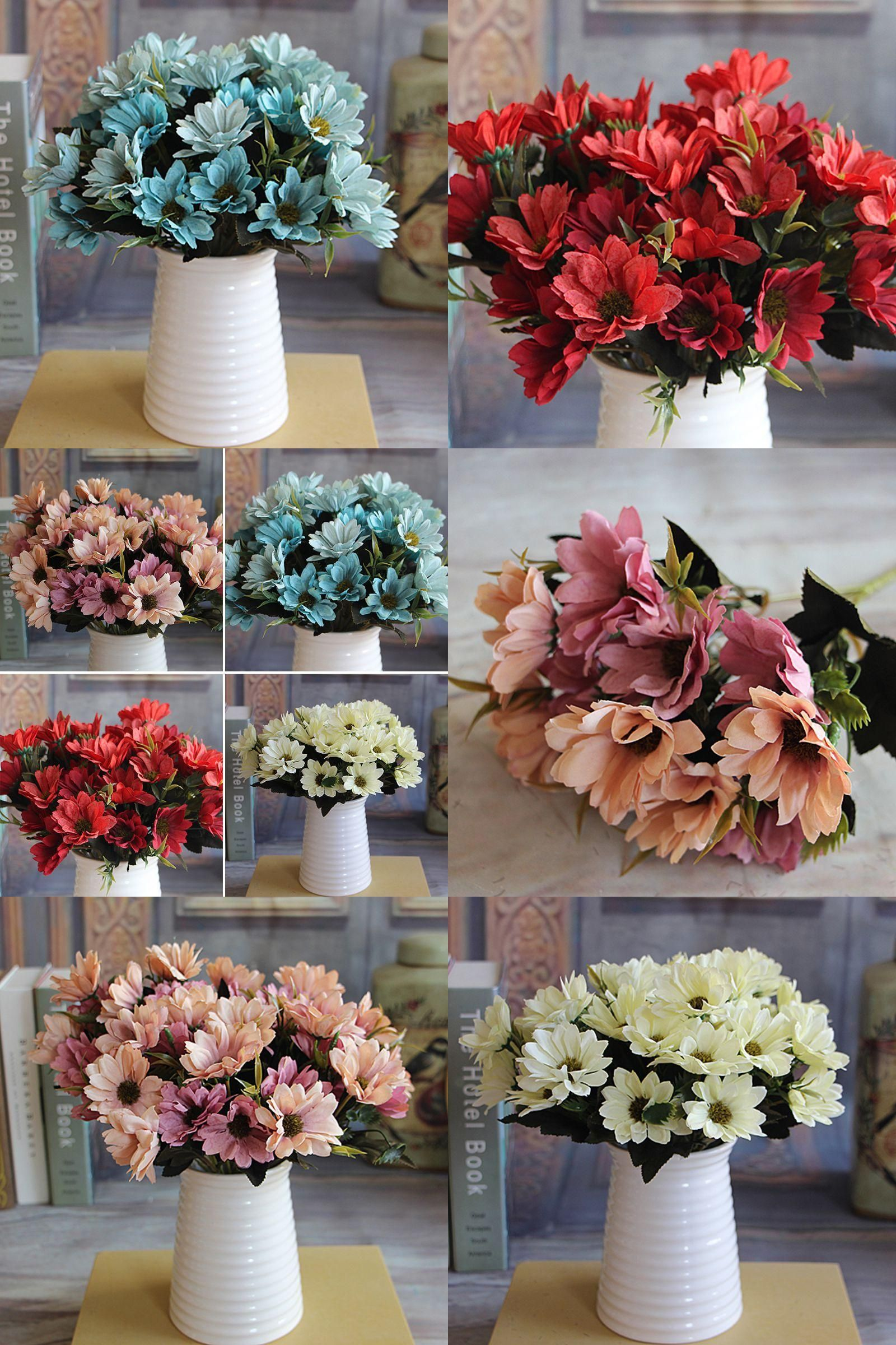 Visit To Buy 1 Bunch Artificial Bridal Daisy Flowers Fake Silk