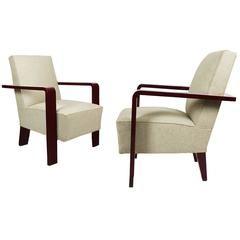 Pair of Art Deco Cubist Armchairs