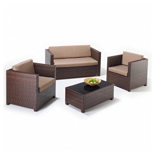Hf4you Furniture 4 Piece Lounge Set 2 Armchairs 2 Seater Sofa Glass