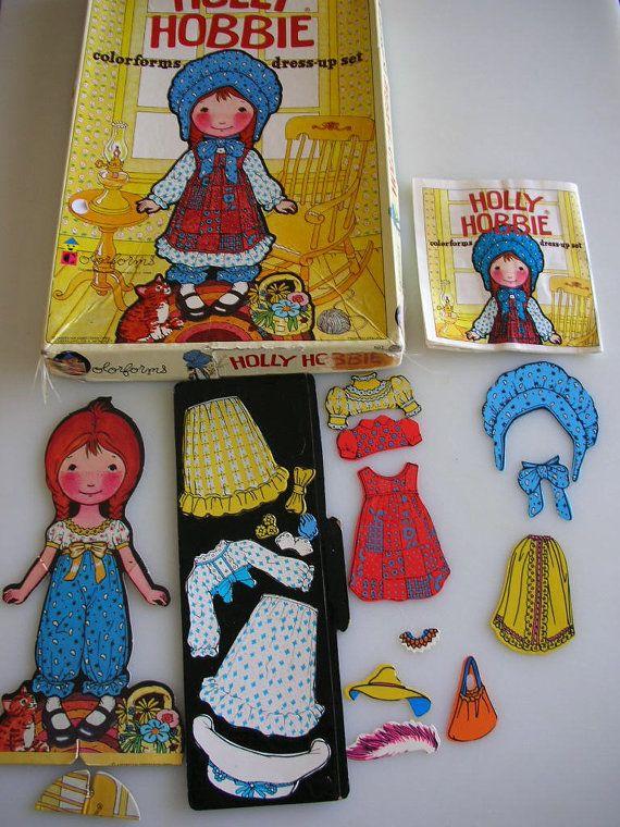 S A L E Vintage Colorforms Holly Hobbie and Barbie Set 1970s ... #hobbys
